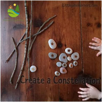 Create constellations out of sticks and stones with this fun activity!