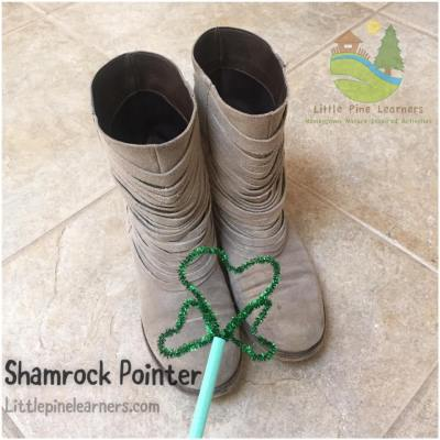 Search for objects in your house that make the sh sound with this shamrock wand.
