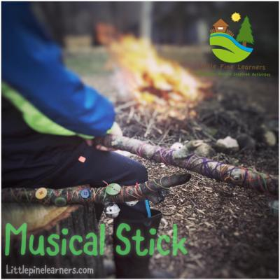Turn a walking stick into a musical stick with thread, beads, and bells.