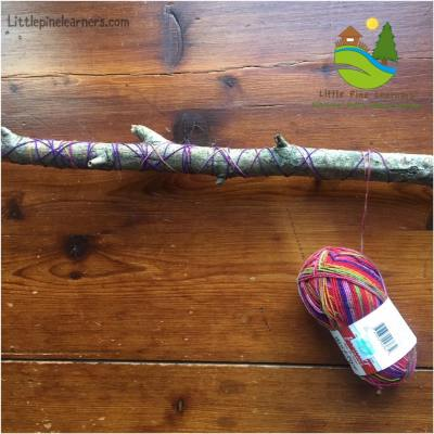 Turn a walking stick into a musical stick with yarn, beads, and bells.