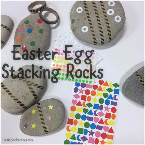 Make this fun nature craft for Easter! These Easter egg stacking rocks are fun to play with and look beautiful. Enjoy!.jpg