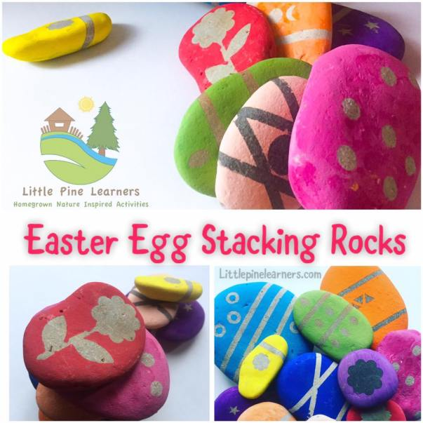 Make this fun nature craft for Easter! These Easter egg stacking rocks are fun to play with and look beautiful. Have fun making these with your little nature lover!.jpg