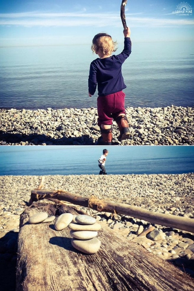 A simple constellation activity with sticks and stones. This activity builds constellation knowledge as kids explore with loose parts. Add this to your list of outdoor activities for kids!