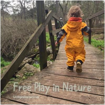 Read here about the benefits of free play in nature. Get outdoors with your child today!