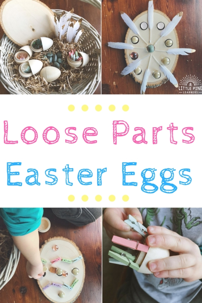 If you're are looking for a fun and creative Easter egg activity, you've come to the right place! These loose parts Easter eggs will keep those little hands and BIG imaginations busy for a long time.