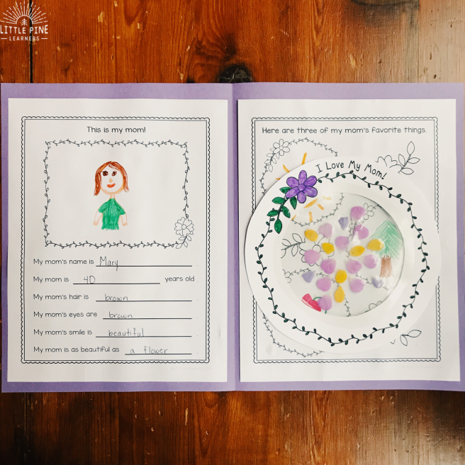 Looking for a beautiful and unique Mother's Day craft for kids? This Mother's Day book and sun catcher is the perfect gift for your kids to create for their moms, grandmas, and aunts in their lives! All you need is glossy contact paper and flower petals and you are ready to create a simple gift.