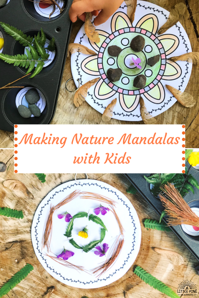 "A mandala is derived from the Sanskrit word meaning ""circle."" Many people use mandalas in a spiritual practice, while others simply appreciate their artistic and symmetrical beauty. Making nature mandalas is calming and relaxing. It's also great for nurturing your child's creativity and problem solving skills. Read on to learn a simple way to teach your children how to create these beautiful works of art!"
