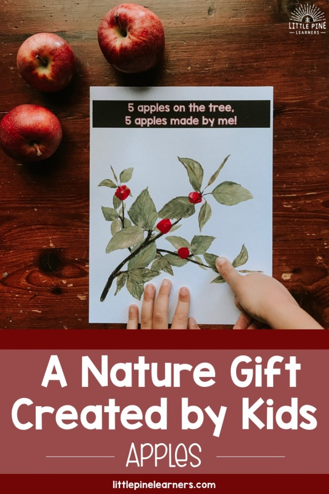 Are you looking for a meaningful gift that your child can create for someone special in his or her life? This simple and inexpensive gift combines an adorable personalized apple keepsake with real apples! Put them both in a basket you have yourself a gift that any adult would love and appreciate. Read on to see how you can customize it for the person you have in mind!